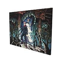 呪術廻戦 絵画 インテリア インナー フレーム装飾画 アートポスター (30cm*40cm) 壁画 アートパネル 油絵 写真 現代絵画 壁飾り 壁掛け