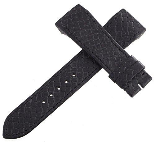 Jaeger Lecoultre Reverso OEM nero in vera pelle cinturino dell' orologio 19mm x 16mm