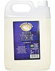 Golden Swan Vinagre blanco (White Vinegar) para encurtir, marinar, cocinar y limpiar - Botella de 5 litros