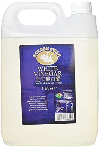 Golden Swan Alcool Blanc Vinaigre (White Vinegar) pour Nettoyer, Saumurer, Mariner et Cuire - 5 litres Bidon