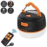 lanktoo Rechargeable Camping Lantern with Remote Control, 6400mAh Power Bank, 5 Light Modes