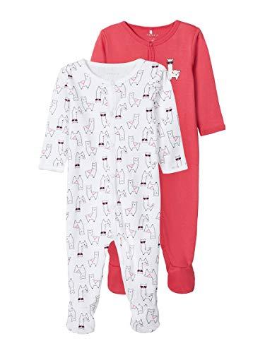 NAME IT NBFNIGHTSUIT 2P W/F Claret Alpaca Noos Ftbol, Color Rojo, 1 Mes para Bebés