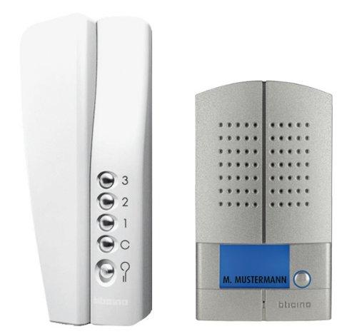 Preisvergleich Produktbild bticino 368111 1-Fam Audio Set Linea Metall