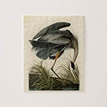 PotteLove Audubon Great Blue Heron Birds Jigsaw Puzzle 1000 Pieces for Adults, Entertainment DIY Toys for Creative Gift Home Decor
