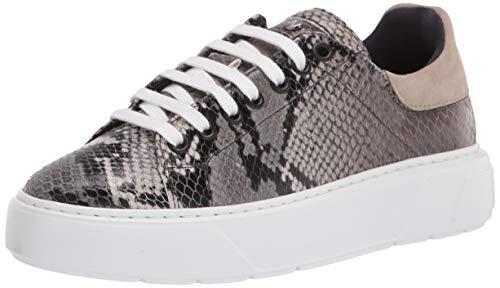 Aquatalia womens Classic Low Top Sneaker, Anthracite/Pebble, 6.5 US