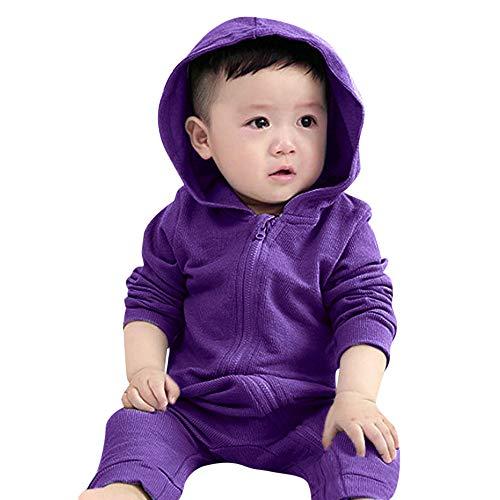 URSING Infant Kleinkind Baby Mädchen Jungen Dinosaurier Hoodie Strampler Zip Herbst Kleidung Overall Schlafstrampler Schneeanzug Overall Winterjacke Schlafstrampler mit Reißverschluss