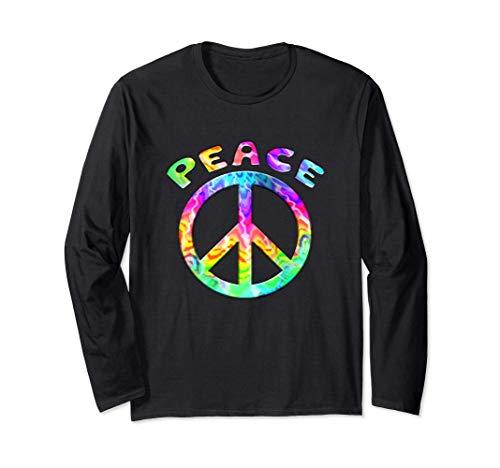 Flower Power Peace Hippie Love 60 70 paz amor Ángel Manga Larga