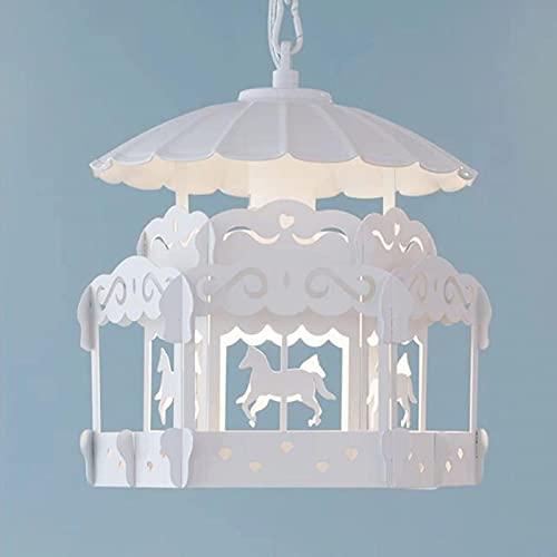 GDEVNSL Candelabros Minimalistas Modernos Lámparas de Personalidad Creativa Sala de Estar Pasillos Pasillos Dormitorio Habitación de niños Princesa Led Colgante Individual