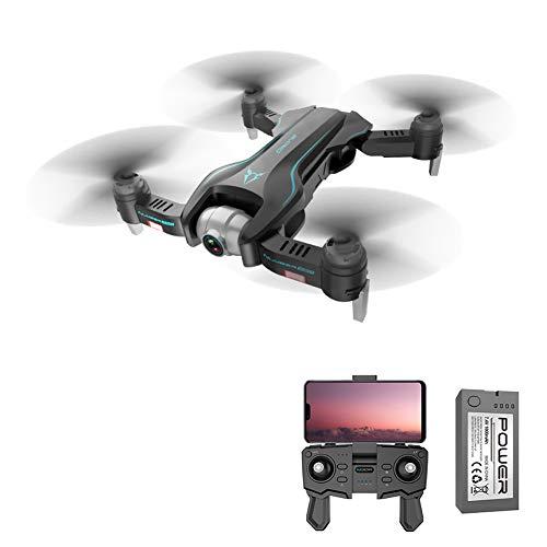 GsMeety Drohne mit 4K Video-Kamera in Ultra HD Live Video, RC Quadrocopter mit Optischem Fluss, Kopflos-Modus, Höhe halten, EIN-Tasten-Start und- Landung