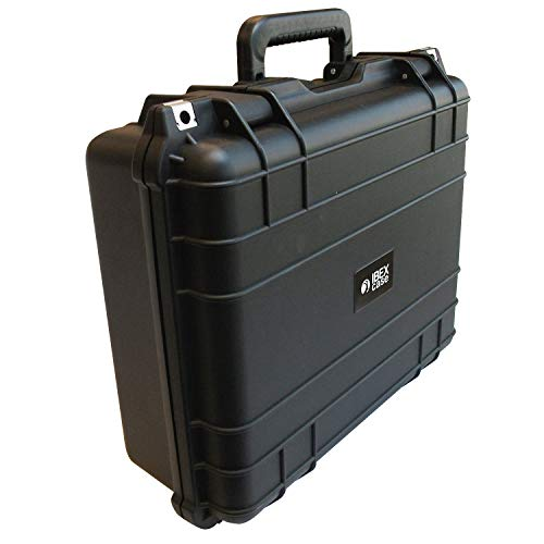 Wheeled Hard Protective Case with Foam Ibex Cases 2500 Tools Watertight Camera Case for Electronics Black Equipment