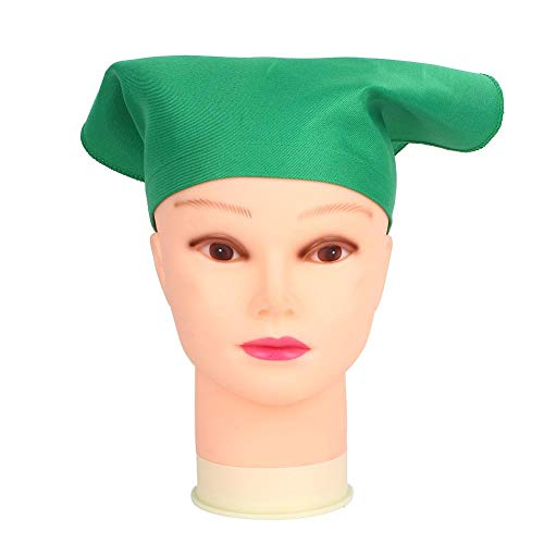 Jeffergarden Kinder Kochmütze Kinder Malen Zeichnen Hut Tragbares Stirnband Backen Kochen Zubehör Kleidung Unisex für Innen(Grün)