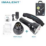 IMALENT MS18 Lot de 18 lampes de poche LED Cree XHP70 2nd LED Portée 1350 m avec écran OLED et ventilateur intégré inclus