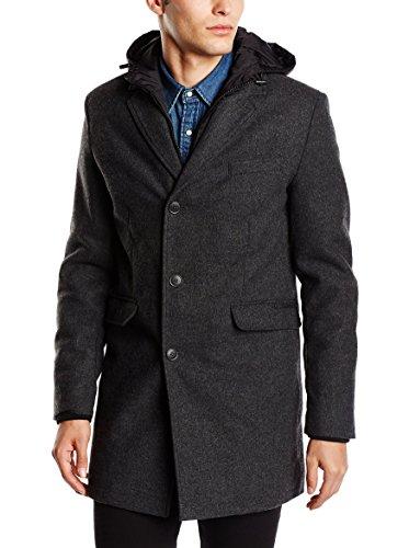 Springfield, SP-PRICE COAT W/FACING - Abrigo para hombre, color grey, talla L