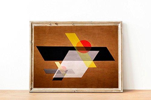 WallBuddy László Moholy Nagy Bauhaus Stil Geometrischer Druck Bauhaus Art Bauhaus Grafik Design Bauhaus Poster Bauhaus Druck braun, 11 x 17