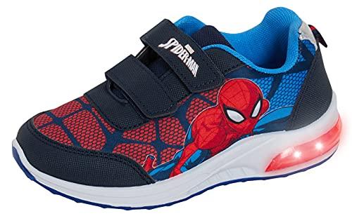 MARVEL Boys Spiderman Light Up Trainers Kids Flashing Lights Running Sports...