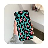 Moda Verde Rosa Mucca Leopardo Stampa Cassa Del Telefono Per Huawei Honor 20 30 Lite 8 9 10 Lite 8X 8C 9X V20 10i 20i 8S 8A 30 Pro 30S-H7603K-per Honor 30 Pro