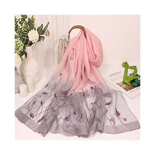 ULIULINH zakdoeken voor dames in de herfst en winter van zijde geborduurd unisex voor koud weer.