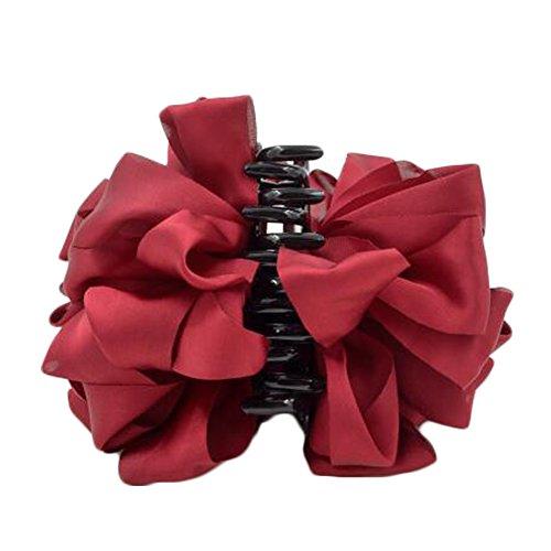 Mesdames Belle Claw Clip cheveux Décor Clips Accessoires cheveux, Rouge