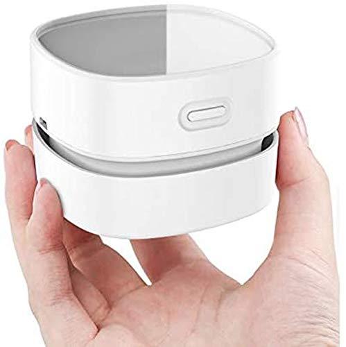 Fiunkes USB wiederaufladbare Tischstaub-Kehrmaschine Handheld-Kabelloser Desktop-Staubreiniger tragbarer schnurloser Krümel-Kehrmaschine für Home Office-Auto-Laptop-Tastaturreinigung