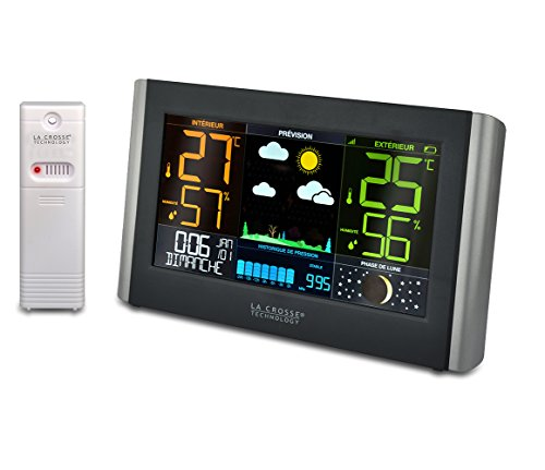 La Crosse Technolgy - ws6836 Wetterstation Grand farbiges LCD-Display - Schwarz.