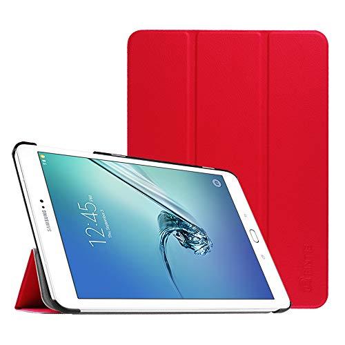 Fintie Hülle für Samsung Galaxy Tab S2 9.7 T810N / T815N / T813N / T819N 24,6 cm (9,7 Zoll) Tablet-PC - Ultra Schlank Ständer Cover Schutzhülle mit Auto Schlaf/Wach Funktion, Rot