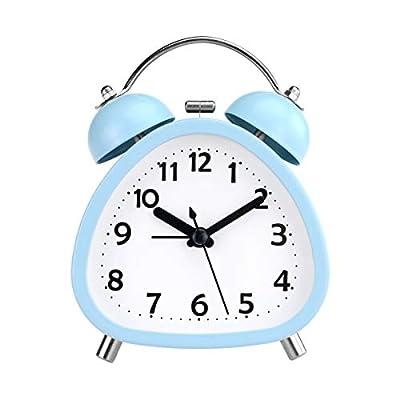 Clásico y elegante: con un mecanismo de metal de primera calidad, el reloj de alarma de campanas gemelas de PiLife posee un carácter ruidoso con un color azul cielo en la forma vintage, que se deleita enormemente con los ojos y adorna el dormitorio, ...
