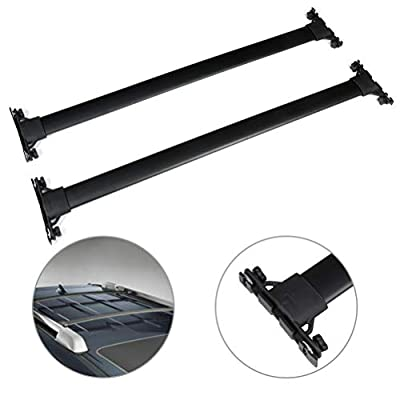 SCITOO fit for 2010-2019 for Toyota 4Runner 4-Door Aluminum Alloy Roof Top Cross Bar Set Rock Rack Rail