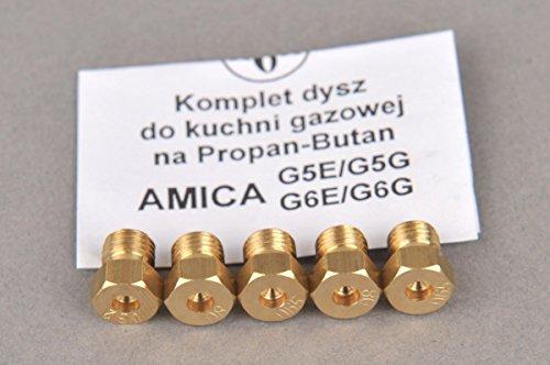 Gasherd Gaskochfeld Ersatzdüse Gasdüse für Propan Butan (LPG) - Amica G5E / G5G II