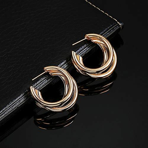 Burenqi Oorbel Goud Sliver Open Hoop Oorbellen Voor Vrouwen Geometrische Cirkel Hoops Minimalistische Metalen Kleine Oorbellen Mode Sieraden
