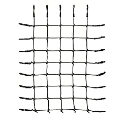 HIKS Kids Climbing Net for Climbing Frames and Play / Tree Houses 180 CM x 150 CM Dimensions: 180 cm x 150 cm (1.8m x 1.5m) with Fully adjustable loops with figure 8 locking clips to ensure a good fit to any frame 12mm Polypropylene rope Black Plasti...