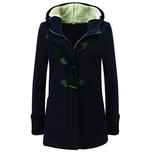 WanYang Donna Cappotto di Lana Blended Giacca Invernale Casual Maniche Lunghe Maglione Cappotto Camicia