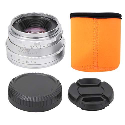 25mm F1.8 spiegelloze cameralens met opbergtas voor lens Meerlaagse coating Spiegelloze cameralens E/NEX-bevestiging voor Sony Camera A5000/A6000/A6300/A6500/A7/A7R/A7II/A7RII(Zilver)