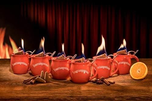 Feuerzangentasse 6er im Karton, Rot - für Feuerzangenbowle