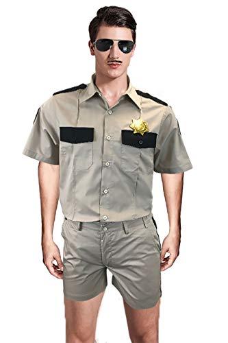 Reno 911 Costume Lt Dangle Shirt Shorts Badge Patches Sunglasses Khaki...