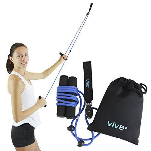 Vive Shoulder Pulley - Over Door Rehab Exerciser for Rotator Cuff Rehab - Arm Rehabilitation Exercise System for Frozen Shoulder Physical Therapy, Flexibility Stretching Strengthener, Range of Motion