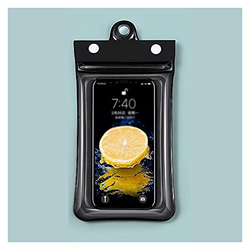 HSFS bolsa seca impermeable Bolsa de teléfono a prueba de agua con cordón bajo el teléfono de la bolsa de teléfono seco Pantalla táctil Ventana transparente Ventana Airbag Flotante Bolsa de navegación