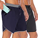 COOFANDY Men's 7' Gym Workout Shorts Quick Dry Running Short Pants Bodybuilding Training Athletic Jogger with Zipper Pockets