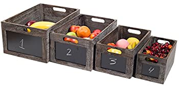 Red co. vintage style produce chalkboard front wooden crates
