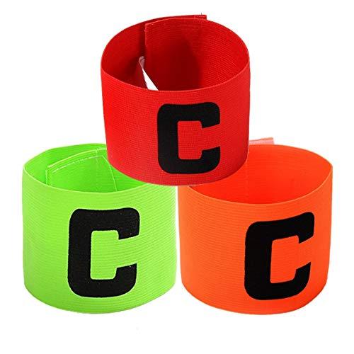 Jiele Multicolor Fußball Captain Armband, Fußball C Standard Gummizug Armband für Kinder, Roll-Klettverschluss, geeignet für viele Arten von Sport (3)
