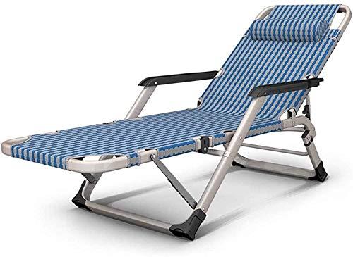 YUDIAN Lightweight Zero Gravity Chair Folding & Reclining Sun Lounger Chair, Deck Chair Recliner Bedchair Relaxer Chair Adjustable Lounge Chair ForBeach, Patio, Garden With Pillow