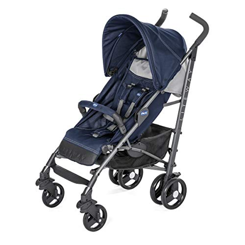 Chicco Liteway 3 - Silla de paseo ligera y compacta, 7,5 kg, color azul (India Ink)
