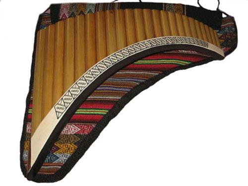 Flauta profesional hecha a mano, para instrumentos diestros, de bambú, peruano