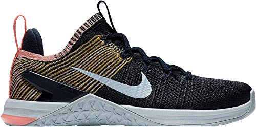 Nike Women's WMNS Metcon Dsx Flyknit 2 Competition Running Shoes, Multicolour (College Navy/Blue Tint/Pink Tint 404), 3.5 UK