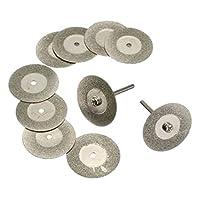 ダイヤモンドホイール マンドレル 回転式 研磨カッター ミニルーター 全13サイズ - 穴なし20mm