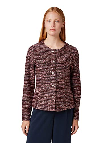 TOM TAILOR Damen Blazer & Sakko Blazer im Bouclé-Look red Boucle Design,M