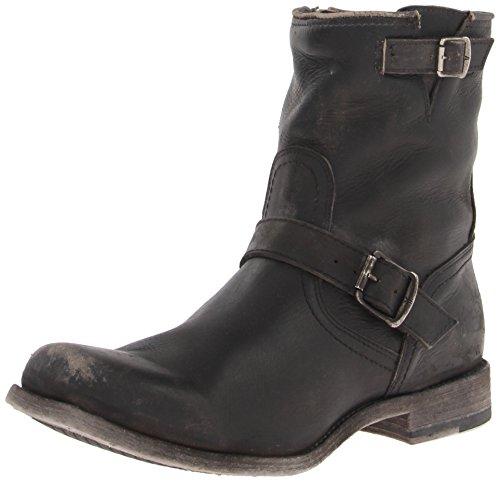 FRYE Men's Smith Engineer Boot, 87078-Black, 8 D US