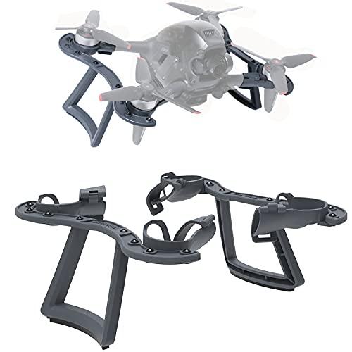 MotuTech 2 in 1 Traino di Atterrissaggio Supporto Paraurti per Drone DJI FPV Drone Landing Gear Bumper Protezione