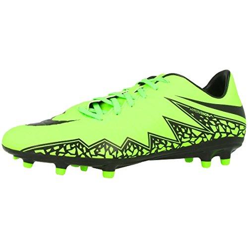 Nike Hypervenom Phelon II FG, Chaussures de football homme - Verde (Green/Schwarz) - 6.5 UK (40.5 EU)