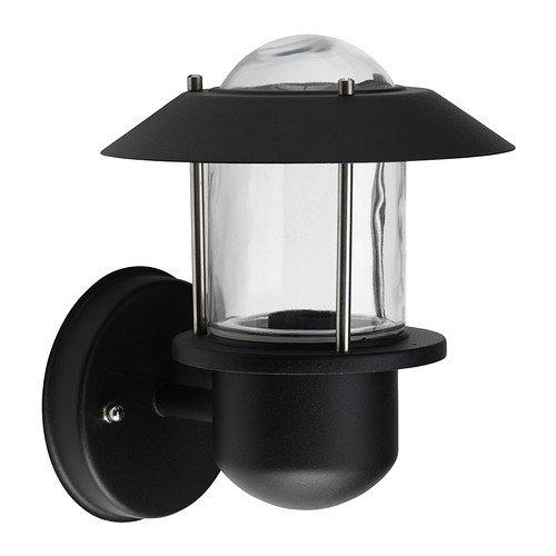 Ikea UPPLID - Wandlamp, buiten zwart - 20 cm