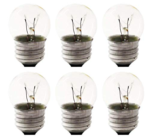 Sterl Lighting - Pack of 6 S11 Sign Indicator Night Light Bulb , Clear Incandescent , 7.5 Watts , 120 Volts , E26 Medium Base , 2700K , 45 Lumens